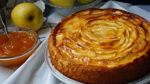 como hacer pastel de manzana con hojaldre