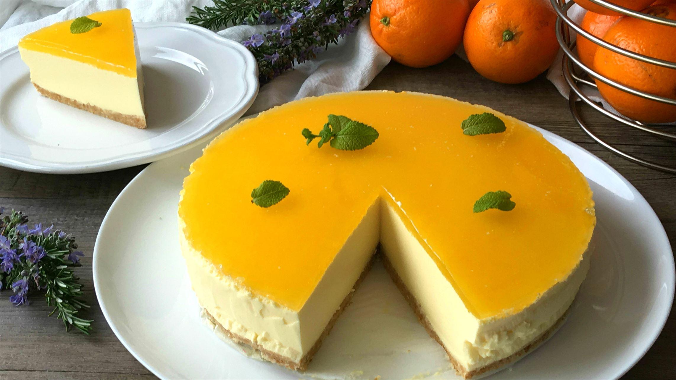Tarta de naranja sin horno (cheesecake de naranja)