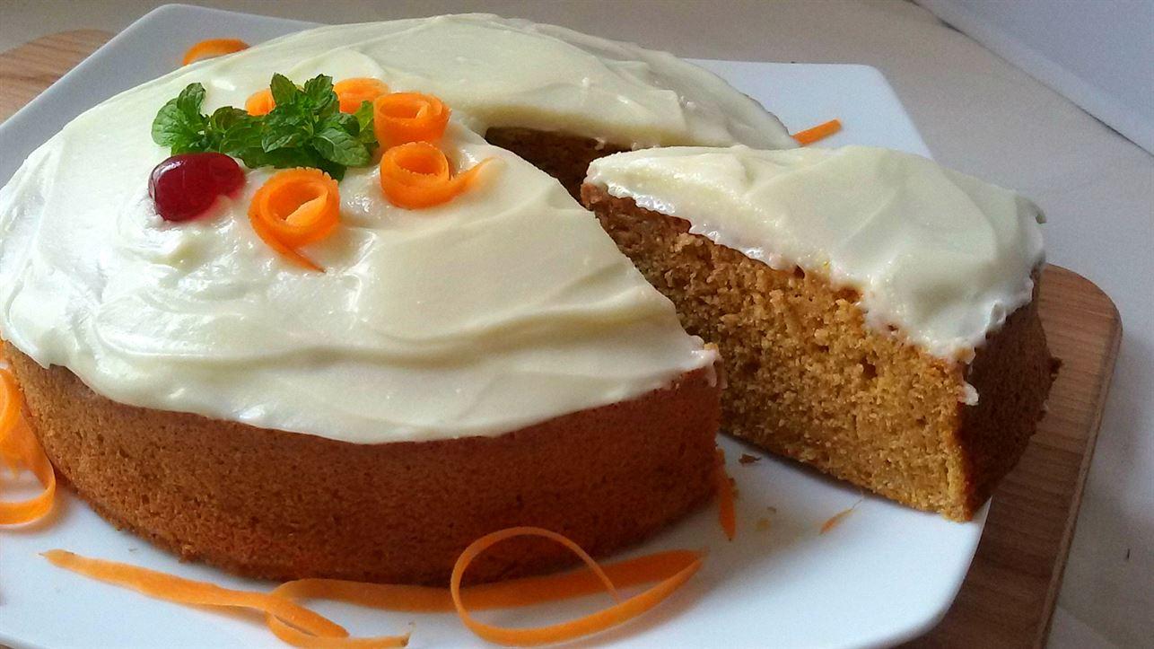 Zanahoria queso de pastel filadelfia con