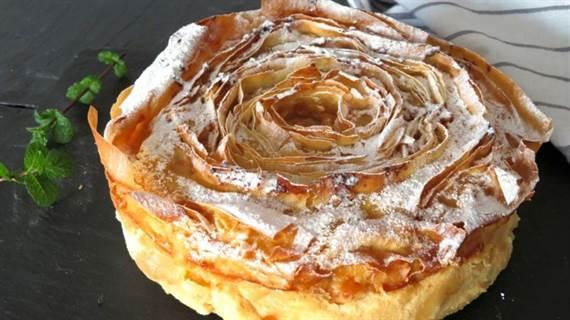 La famosísima tarta flor paso a paso. Ruffle milk pie MUY FÁCIL