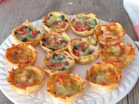 Tartaletas de atún y espinacas
