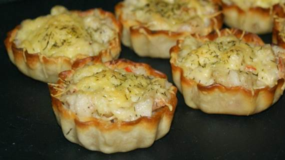 Tartaletas de pescado gratinadas al eneldo anna recetas for Cena romantica que cocinar