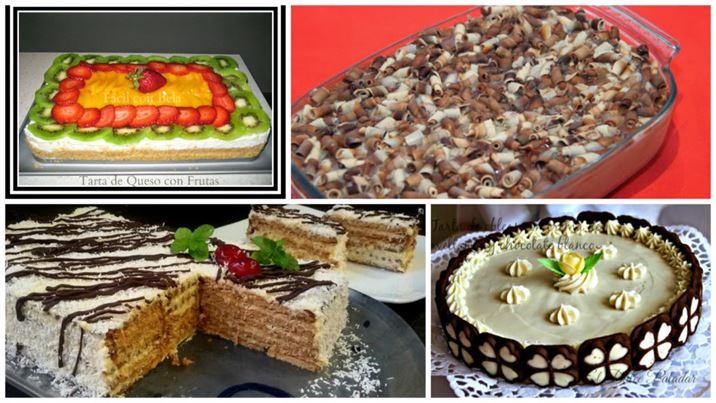 4 tartas espectaculares sin horno