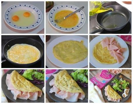 Preparación paso a paso de la tortilla de pechuga de pavo